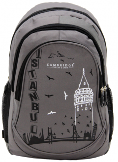 Cambridge Polo Club, Istanbul Backpack, Gray-0