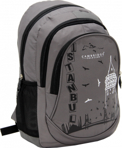 Cambridge Polo Club, Istanbul Backpack, Gray-1