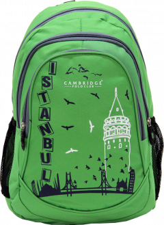 Cambridge Polo Club, Istanbul Backpack Bag, Green-0