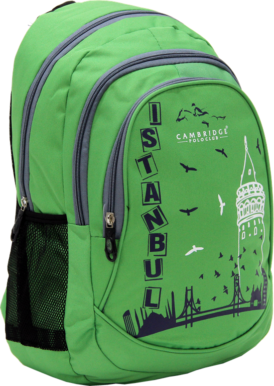Cambridge Polo Club, Istanbul Backpack Bag, Green