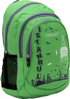 Cambridge Polo Club, Istanbul Backpack Bag, Green-1