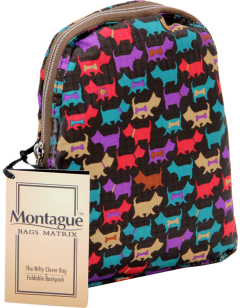 Montague Mbp-18, Foldable Cross Mini Backpack, Greyhound-2