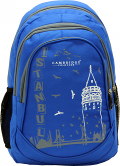 Cambridge Polo Club, Istanbul Backpack, Blue-0