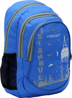 Cambridge Polo Club, Istanbul Backpack, Blue-1