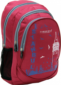 Cambridge Polo Club, Istanbul Backpack, Bordeaux-1
