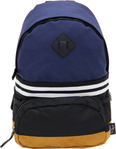 Cambridge Polo Club, Nubuck Base Unisex Mini Backpack, Navy Blue