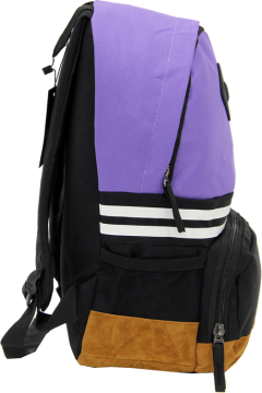 Cambridge Polo Club, Nubuck Base Unisex Mini Backpack, Purple-2