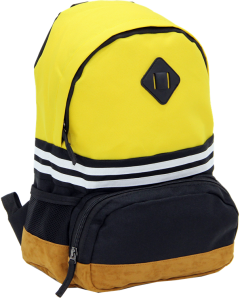 Cambridge Polo Club, Nubuck Base Unisex Mini Backpack, Yellow-1