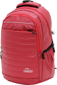 Cambridge Polo Club, Neon Backpack, Red-2