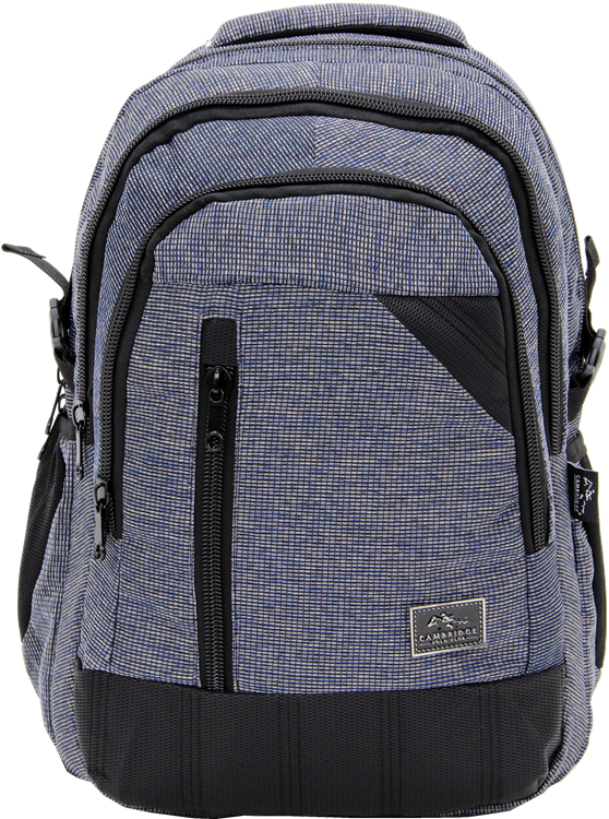 Cambridge Polo Club, Woven Fabric Backpack, Black