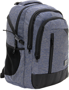 Cambridge Polo Club, Woven Fabric Backpack, Black-1