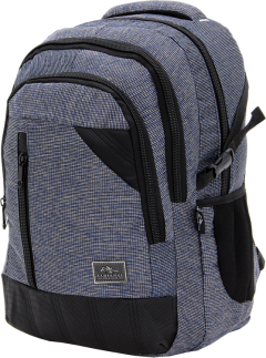 Cambridge Polo Club, Woven Fabric Backpack, Black-2