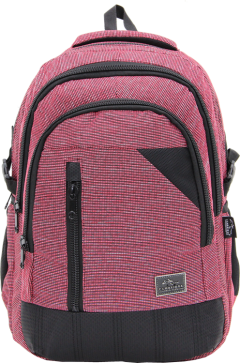 Cambridge Polo Club, Woven Fabric Backpack, Red-0