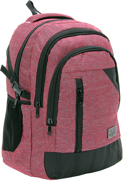 Cambridge Polo Club, Woven Fabric Backpack, Red