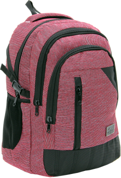 Cambridge Polo Club, Woven Fabric Backpack, Red-1