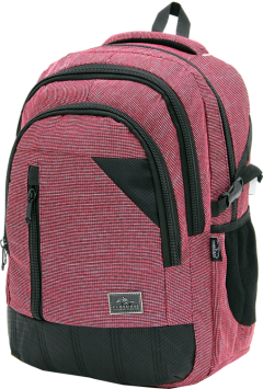 Cambridge Polo Club, Woven Fabric Backpack, Red-2