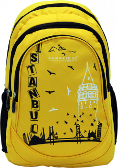 Cambridge Polo Club, Istanbul Backpack, Yellow