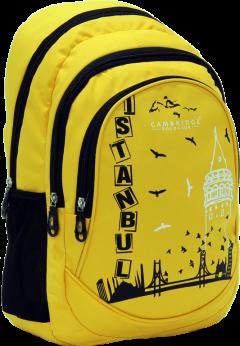 Cambridge Polo Club, Istanbul Backpack, Yellow-1