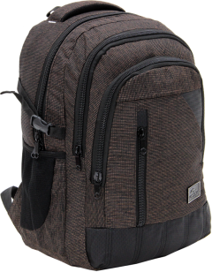 Cambridge Polo Club, Woven Fabric Backpack, Brown-1