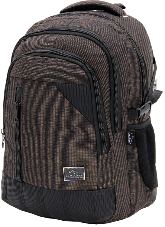 Cambridge Polo Club, Woven Fabric Backpack, Brown
