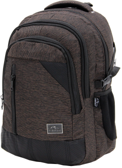 Cambridge Polo Club, Woven Fabric Backpack, Brown-2