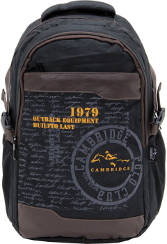 Cambridge Polo Club Plcan1663, 1979 Outback Backpack, Black