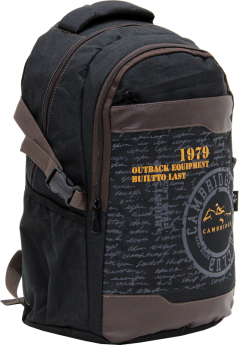 Cambridge Polo Club Plcan1663, 1979 Outback Backpack, Black-1