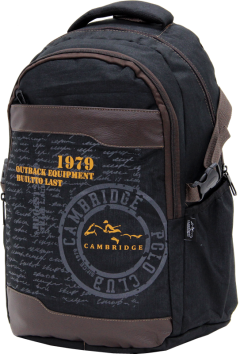 Cambridge Polo Club Plcan1663, 1979 Outback Backpack, Black-2