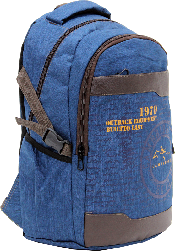 Cambridge Polo Club Plcan1663, 1979 Outback Backpack, Navy Blue