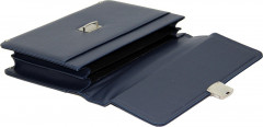Cambridge Polo Club, 13-14 Inc Locked Synthetic Leather Briefcase, Navy Blue-2
