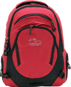 Cambridge Polo Club, Laptop Backpack, Red-0
