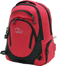 Cambridge Polo Club, Laptop Backpack, Red-1