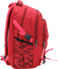 Cambridge Polo Club, Canvas Backpack, Red-2