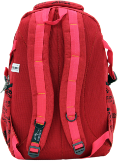 Cambridge Polo Club, Canvas Backpack, Red-3