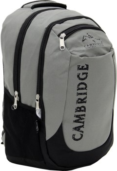 Cambridge Polo Club, School & Backpack, Gray-1