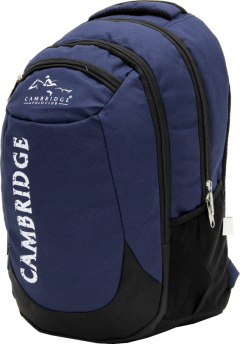 Cambridge Polo Club, School & Backpack, Navy Blue-2