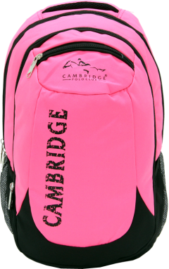 Cambridge Polo Club, School & Backpack, Pink-0