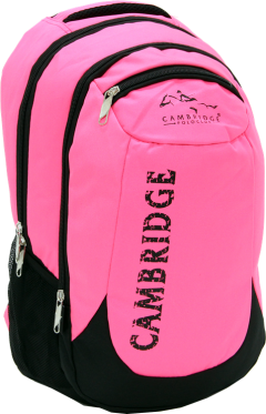 Cambridge Polo Club, School & Backpack, Pink-1