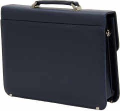 Cambridge Polo Club, Combination Lock Artificial Leather Briefcase, Navy Blue-2