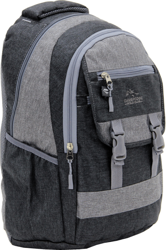 Cambridge Polo Club Plcan1684, Jeans Fabric Backpack, Black