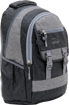 Cambridge Polo Club Plcan1684, Jeans Fabric Backpack, Black-1