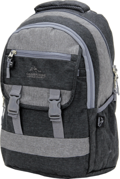 Cambridge Polo Club Plcan1684, Jeans Fabric Backpack, Black-2