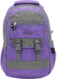 Cambridge Polo Club Plcan1684, Jeans Fabric Backpack, Purple
