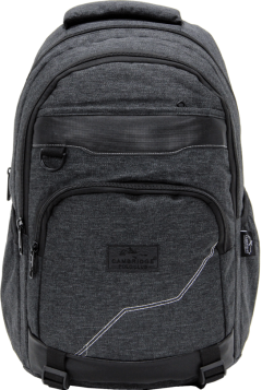 Cambridge Polo Club Plcan1685, Jeans Fabric Backpack, Black-0