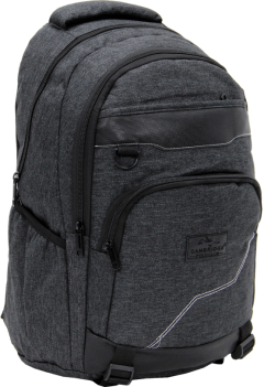 Cambridge Polo Club Plcan1685, Jeans Fabric Backpack, Black-1