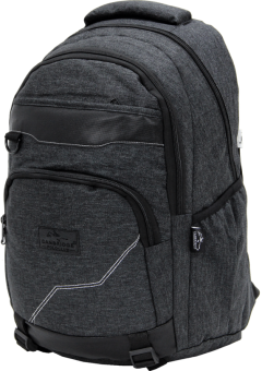Cambridge Polo Club Plcan1685, Jeans Fabric Backpack, Black-2