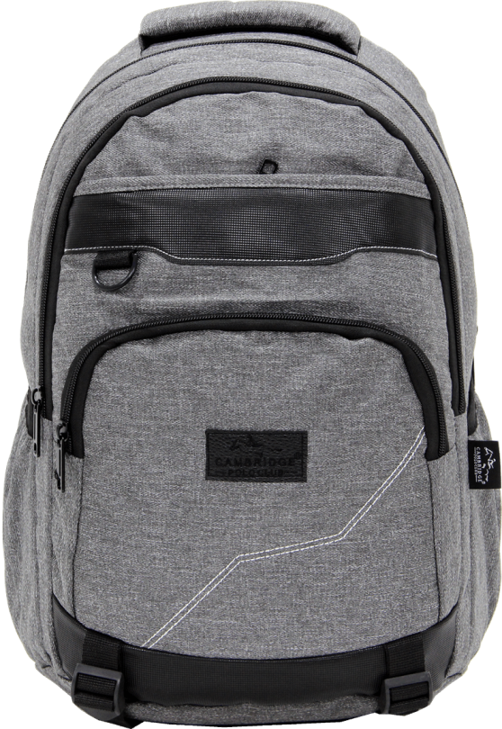 Cambridge Polo Club Plcan1685, Jeans Fabric Backpack, Gray
