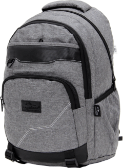 Cambridge Polo Club Plcan1685, Jeans Fabric Backpack, Gray-1