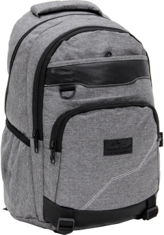 Cambridge Polo Club Plcan1685, Jeans Fabric Backpack, Gray-2