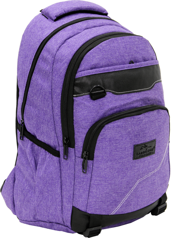 Cambridge Polo Club Plcan1685, Jeans Fabric Backpack, Purple